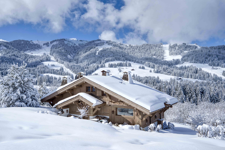 photo chalet neige