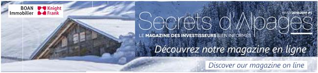 Secrets d'Alpages magazine Immobilier Megève